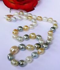RARE AMAZING GENUINE TAHITIAN SOUTH SEA PEARL 14K GOLD NECKLACE
