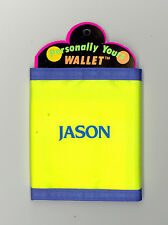 Personally Yours Wallet ~ JASON ~ Stocking Stuffer ~ Yellow Personalized Wallet