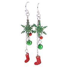 Natale Orecchini Perla Donna Moda Natale Gioielli lucenti G7E9
