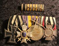 4er Ordensspange Schwarzburg Ehrenkreuz – Kreuz 3.Klasse mit Schwertern 1.WK