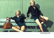 Publicité Advertising 107  2009  Kate Moss for Longchamp (2pag) sacs