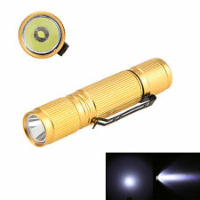 Bright Golden 7W 600LM XTE-Q5 LED AA/14500 Mini Pocket Flashlight Torch Lamp