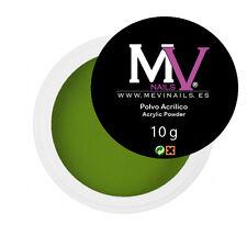 Polvere  Acrilica Verde  Professionale Mevinails 10 grammi  -  Porcelna unghie