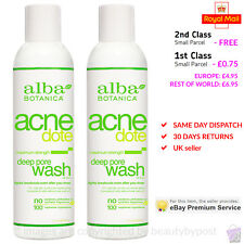 PACK OF 2 Alba Botanica Acne Dote Deep Pore Wash 177ml each