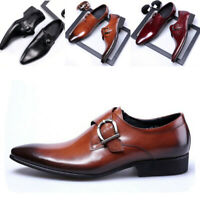 Men's Leather Shoes Wedding Dress Pointed Oxfords Hot Casual Formal Sizes 6-12.5