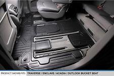 MAXFLOORMAT All Weather Custom Fit Floor Mats Liner Second Row for SUV (Black)