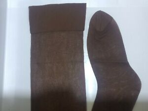 XL Extra Large 11.5-12 Vintage Fruit Of The Loom Sheer Support Stockings brown