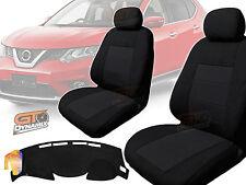 Nissan X-TRAIL T32 BLACK Seat Covers F+R & DASH MAT PACKAGE 03/2014-2018 XTRAIL