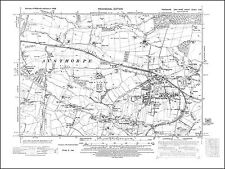 Normanton S old map Yorkshire 1938: 249NW repro Sharlston Common Ackton
