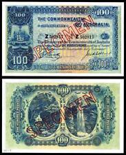CRSIP UNC. 1918 AUSTRALIA 100 POUND  BANKNOTE COPY READ DESCRIPTION!