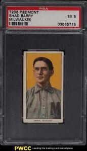 1909-11 T206 Shad Barry MILWAUKEE PSA 5 EX