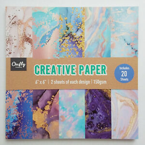Crafty Things, Creative Paper, Craft / Paper Pad, 6 x 6 in, 20 Sheet - New