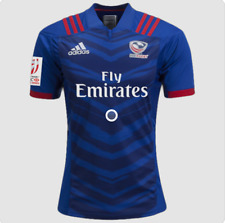 New listing USA Rugby Fly Emirates Jersey Size M New Adidas Blue