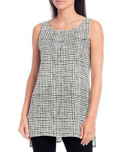 Eileen Fisher Bateau Neck Sleeveless Top, Size-PM