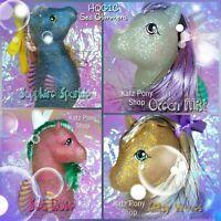 HQG1C Sea Glimmers Custom G1 Vintage MLP Style Sea Pony 💙 FULL SET of 4 💙 MIP!