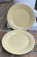 "Gail Pittman HOSPITALITY BUTTER YELLOW 11 1/4"" Dinner Plates Set(s) of 2"