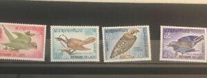 A Collection Of Laos Bird Set 1966 Scott 122-25 F-52,