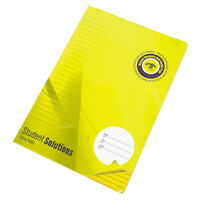 3 x A4 Yellow Memory Aid Lined Paper Notebooks Feint Ruled Legal Note Pads Pack
