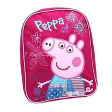 Peppa Pig Flowers Girls Pink Rucksack Backpack Bag School