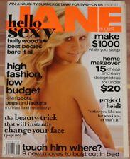 AUGUST 2006 JANE MAGAZINE HEIDI KLUM, HIGH FASHION LOW BUDGET