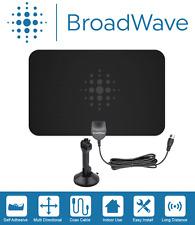 BROADWAVE - Flat HD Digital Indoor Antenna Clear HDTV (FREE TV) vhf/uhf - B210