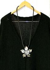 Kautschukkette mit Metall Halskette Lagenlook- Kette Blume Neu