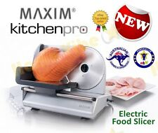 NEW MAXIM KITCHENPRO 150W FOOD SLICER MEAT CHEESE STAINLESS STEEL BLADE RRP$129