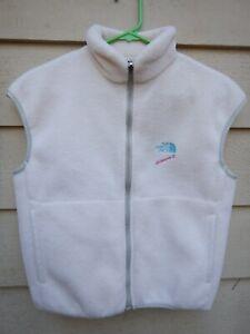 North Face Extreme-Z Fleece Vest Women's Small Size 6 White Vintage Rare