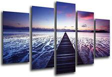 Cuadro Moderno Fotografico Paisaje Puente en Mar, 165 x 62 cm ref. 26324