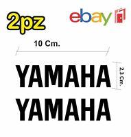 2x adesivi YAMAHA per moto e scooter - colore nero - racing moto