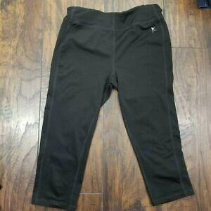 Danskin Now Women's Size XS 0 2 Activewear Pants Black Fitted