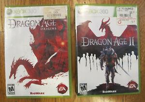 Dragon Age: Origins & Dragon Age II Lot XBOX 360 RPG - Complete - Free Shipping