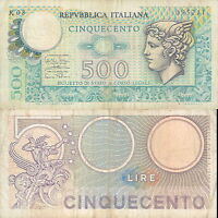 500 LIRE TESTA DI MERCURIO  DEC. 14/02/1974