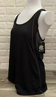 New C9 Champion Black-Grey Women's Racer Back  Tank Top Duo Dry  Fitness  Sz M