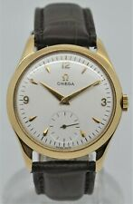 Omega 2619 yellow 18k gold gents dress watch