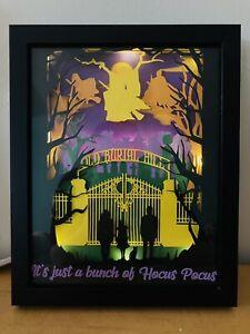 Hocus Pocus Halloween themed lighted shadow Night Light Sanderson Sisters Decor