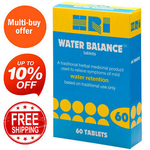 HRI Water Balance | 60 Tablets | For Reduce Bloating, Relieve Water Retention