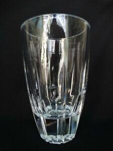Cristal D'arques/Durand Bergerac 7 7/8th Inch Clear Blown Cut Glass Vase VGUC
