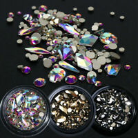 Multi-size Rhinestones 3D Crystal AB Clear Stones Gems Diy Nail Art Decoration G