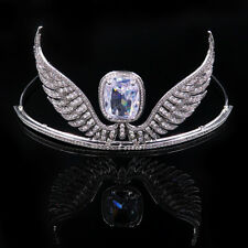 Luxury All CZ Cubic Zirconia Angel Wing Wedding Party Pageant Prom Tiara Crown