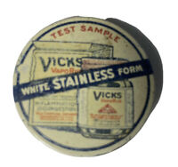 Vintage Vicks Test Sample Tin 1920s RARE Medical Advertising Tin
