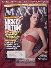 MAXIM #92 August 2005 NICKY HILTON BOBBI SUE LUTHER JACQUI MAXWELL