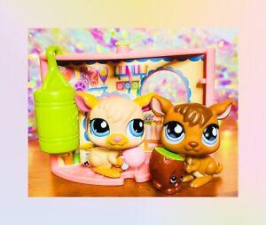 ❤️Authentic Littlest Pet Shop LPS #682 1871 Boxing Bag Kangaroo Joey Lot Nook❤️