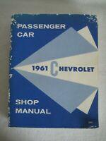 Original 1961 Chevrolet Passenger Car Shop Full Service GM Manual Vintage