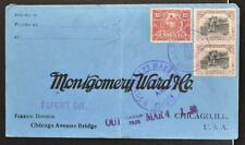 GUATEMALA to USA 1920 nice Franked Cover G-City to Montgomery Ward Co Chicago