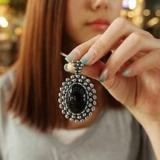 Fashion Women Jewelry Retro long Sweater Chain Necklace with Rhinestone Pendant