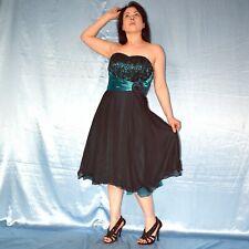 Pailletten am Tüll ABENDKLEID* S Sommerkleid* Minikleid* CocktailkleidBallkleid