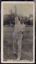 WILLS AUSTRALIAN-CRICKET SEASON 1928/29-#32- OE NOTHLING QLAND - RARE SUBJECT!!!
