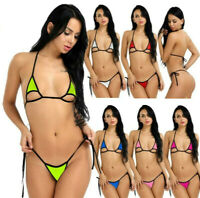 Women's Bikini Set Micro Mini Swimwear Swimsuit Bra G-String Lingerie Brazilian