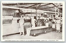 Little Rock Arkansas~Camp Pike Kitchen~Soldier Cooks at Bake Ovens~WWI c1917 B&W